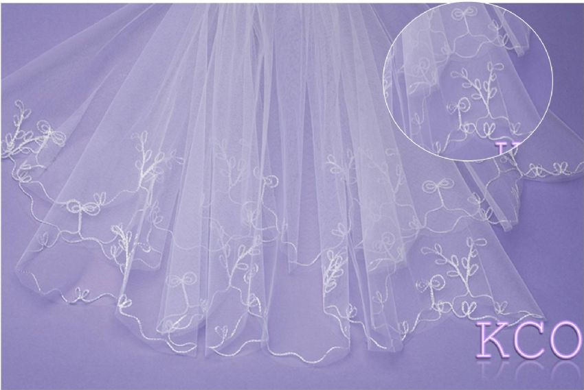 V179 White Communion Veil